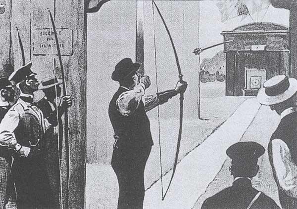 Épreuve de tir à l'arc à Vincennes dans le cadre des éliminatoires_ Public Domain_ Suggested credit_ Library of Congress