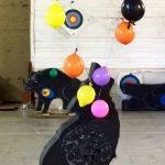 Loup et ballons de baudruche